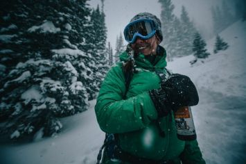 Nothing quite like beers in the backcountry! PC Joey Schusler