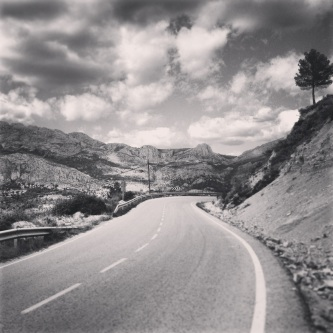 Exploring the passes of the Costa Blanca, Spain.